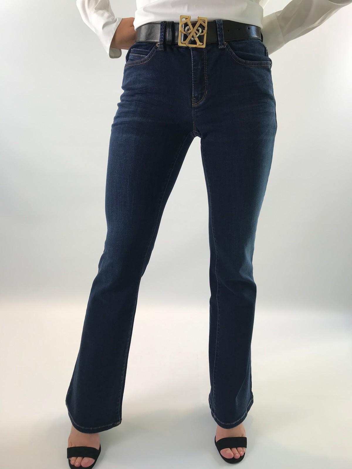 Cambio - Parla flared 9164 - Broek blauw - uitverkocht