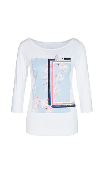 Marccain T-shirt witblauw